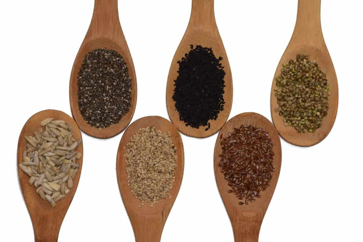 sec, nourriture, bois, graines, cuillère, vaisselle, épices
