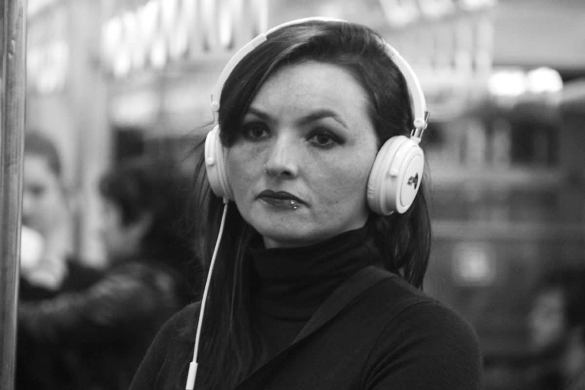 monochrome, people, portrait, music, woman, person, face, outdoor