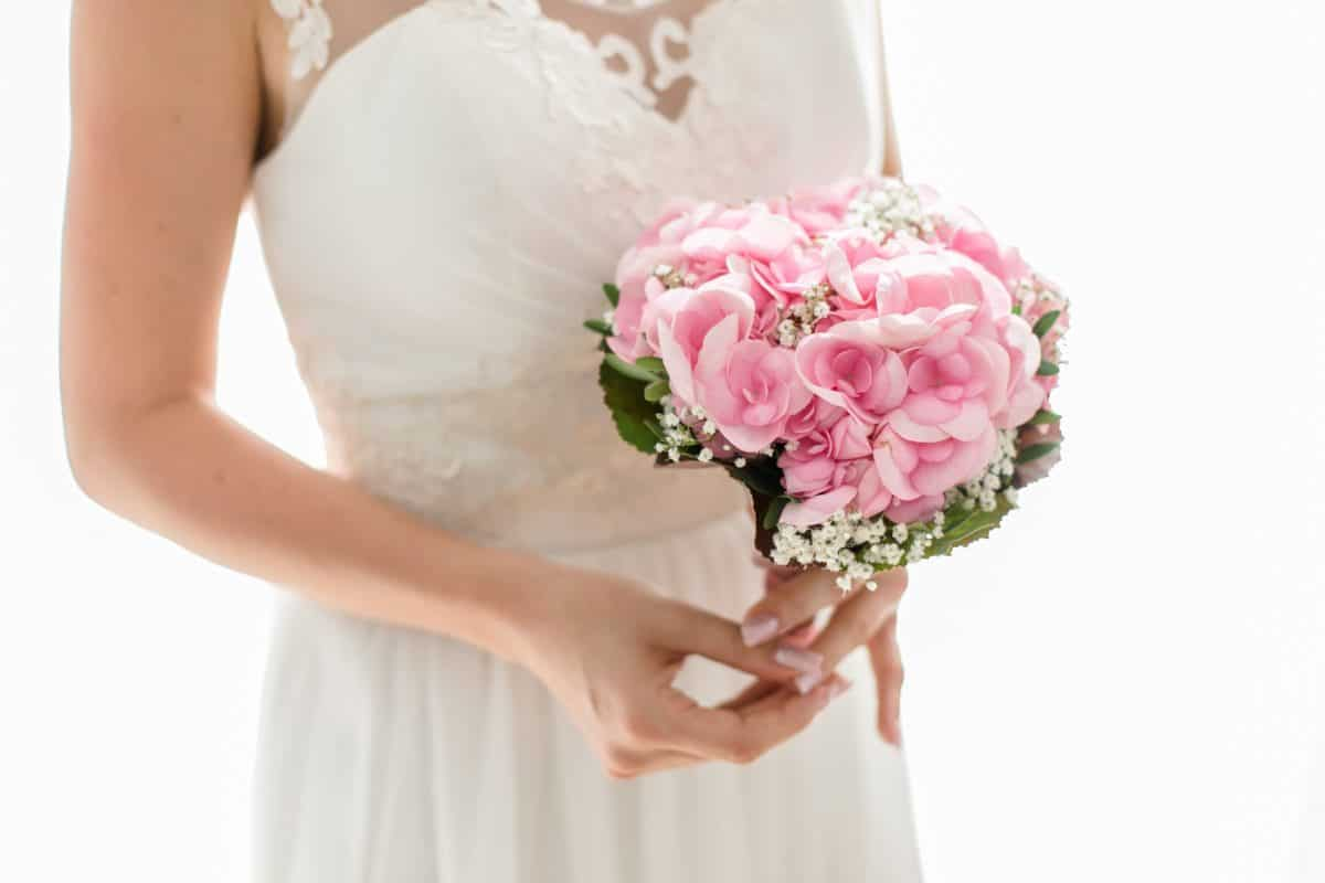 woman, bouquet, bride, flower, superior, dress, person