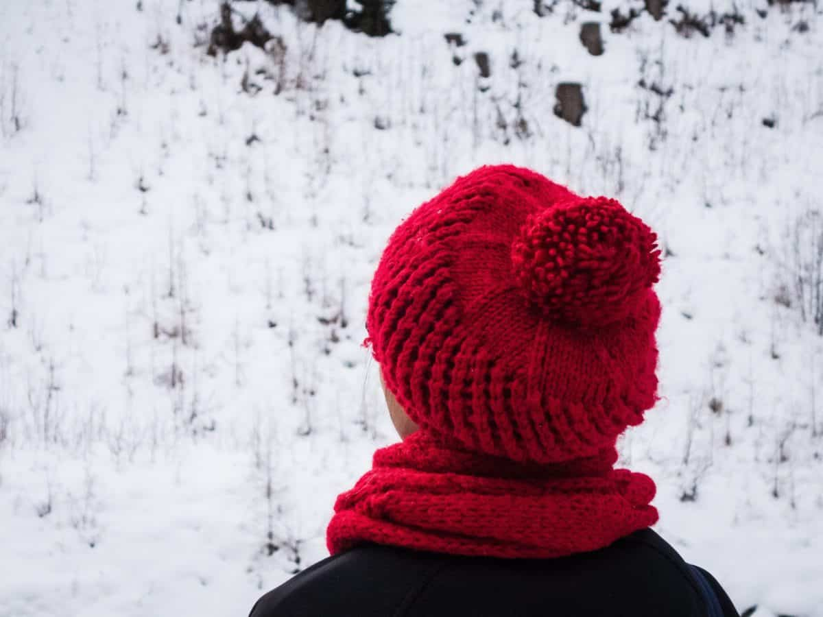 snow, frost, cold, winter, frozen, hat, outdoor, red