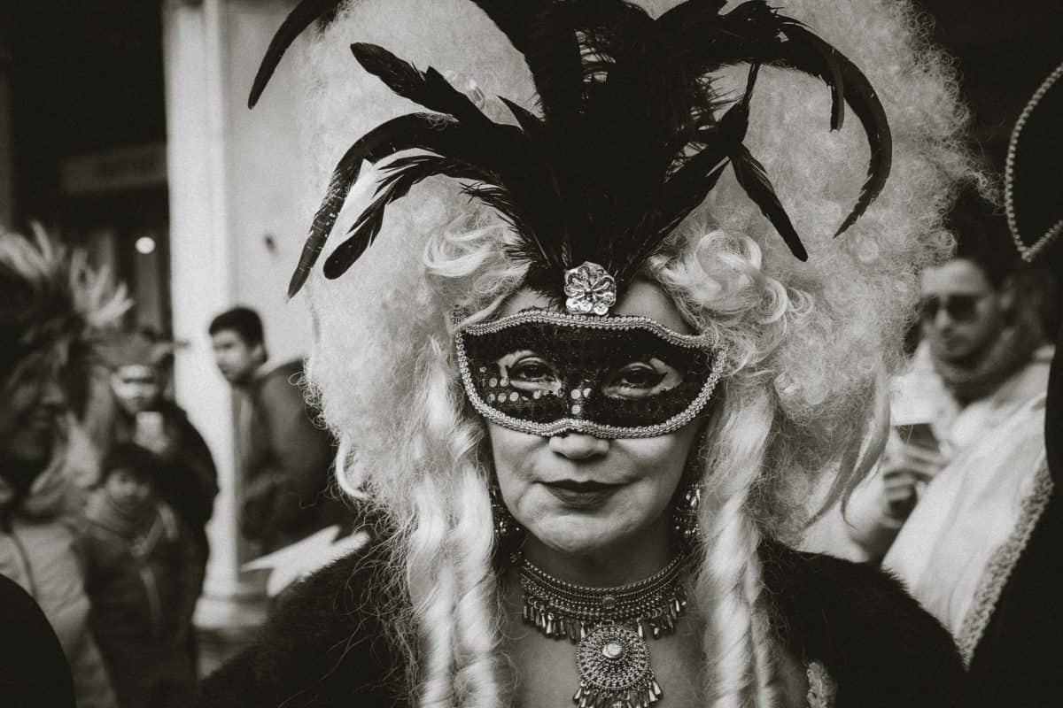 costume, people, mask, masquerade, attire, portrait, face, carnival