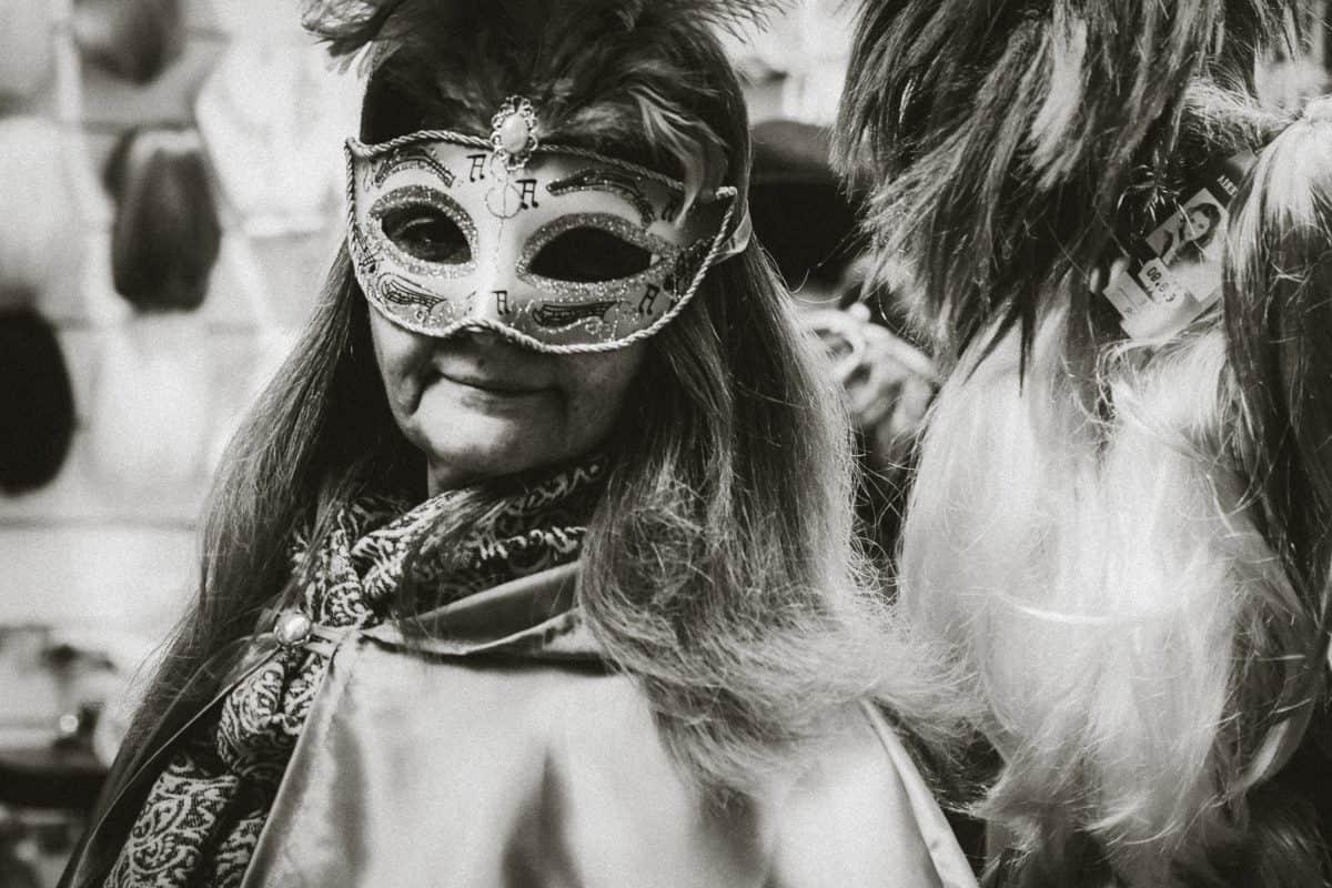 máscara, mascarada, traje, festival, gente, mujer