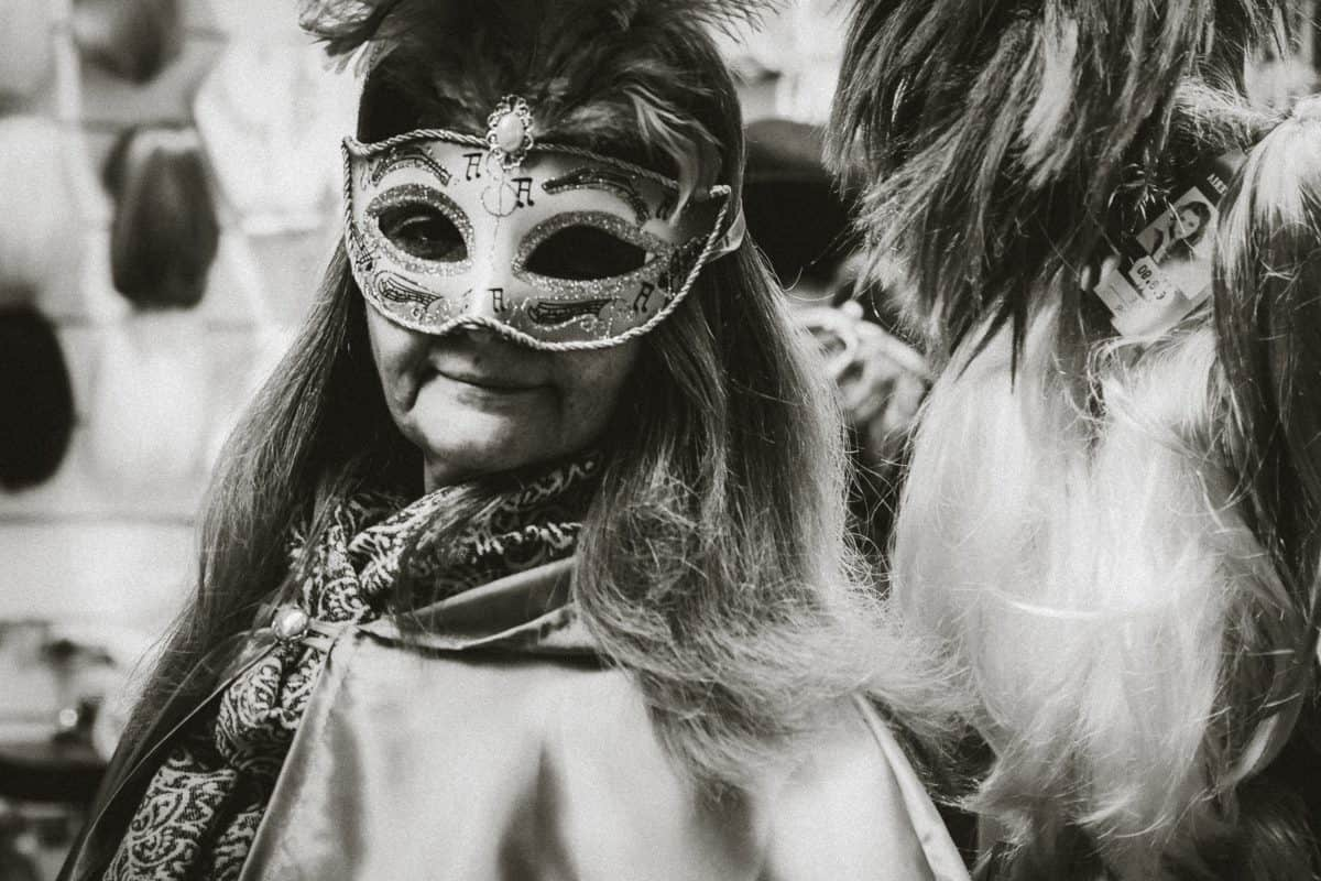 mask, masquerade, costume, festival, people, woman