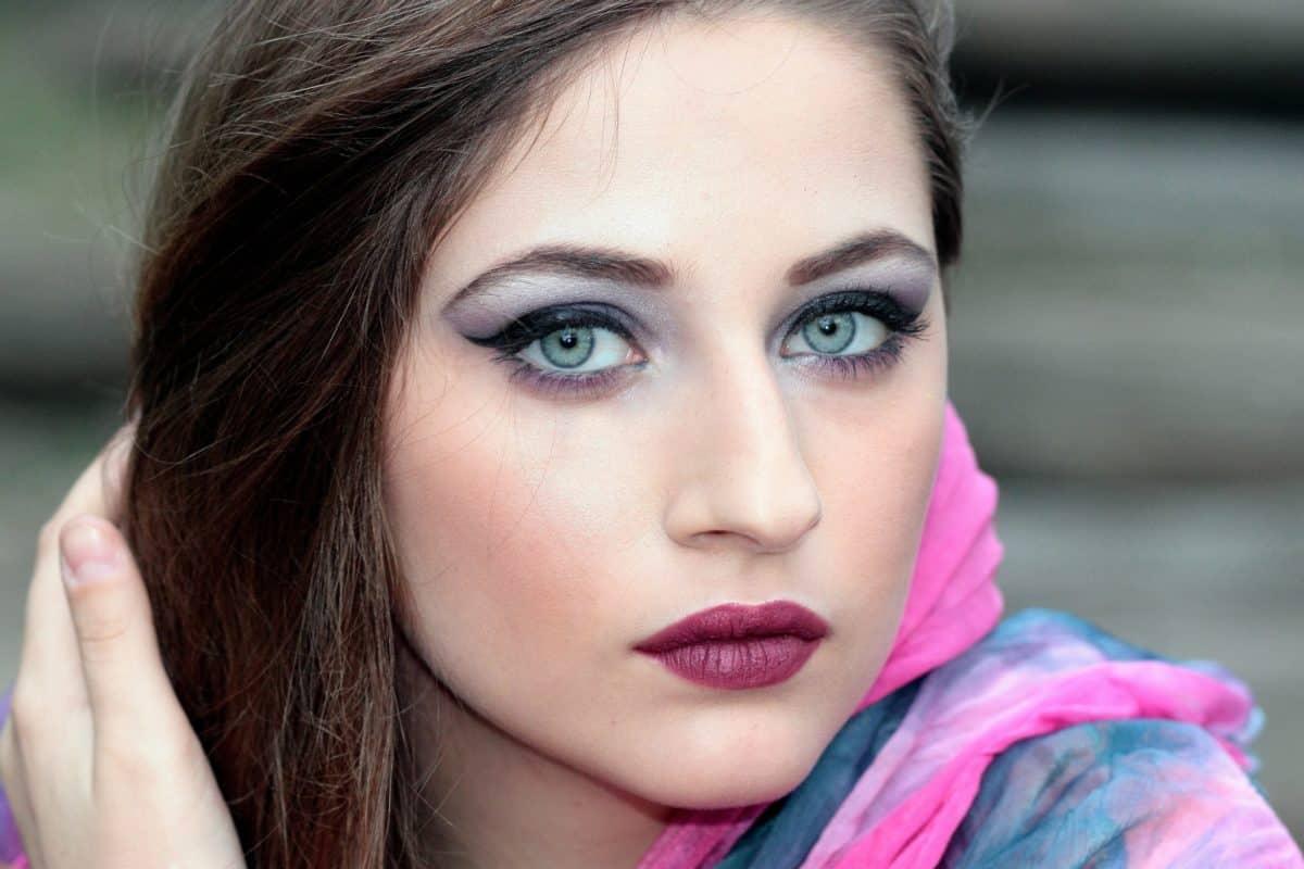 yeux, peau, portrait, femme, mode, visage, yeux jolies, séduisantes,