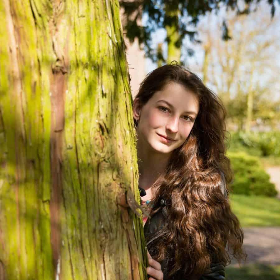Mode, Mädchen, Frau, schön, Sommer, Baum, Holz, Natur