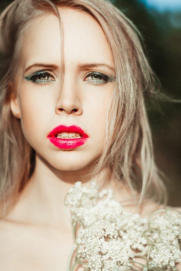 rúž, žena, foto model, blond vlasy, móda, tvár, portrét, make-up, atraktívne, oči
