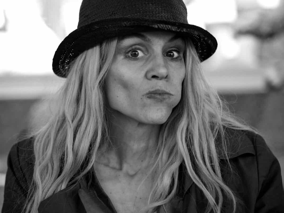 Portrait, femme, people, mode, monochrome, chapeau, visage, attrayant