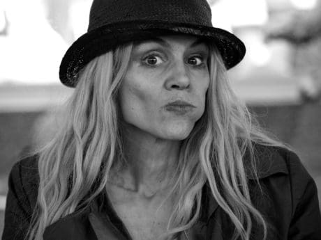 portrait, woman, people, fashion, monochrome, hat, face, attractive