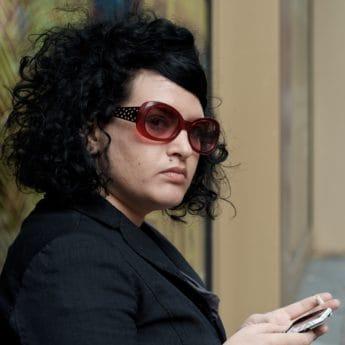 musique, portrait, lunettes, noir, femme, gens, lunettes, lunettes de soleil
