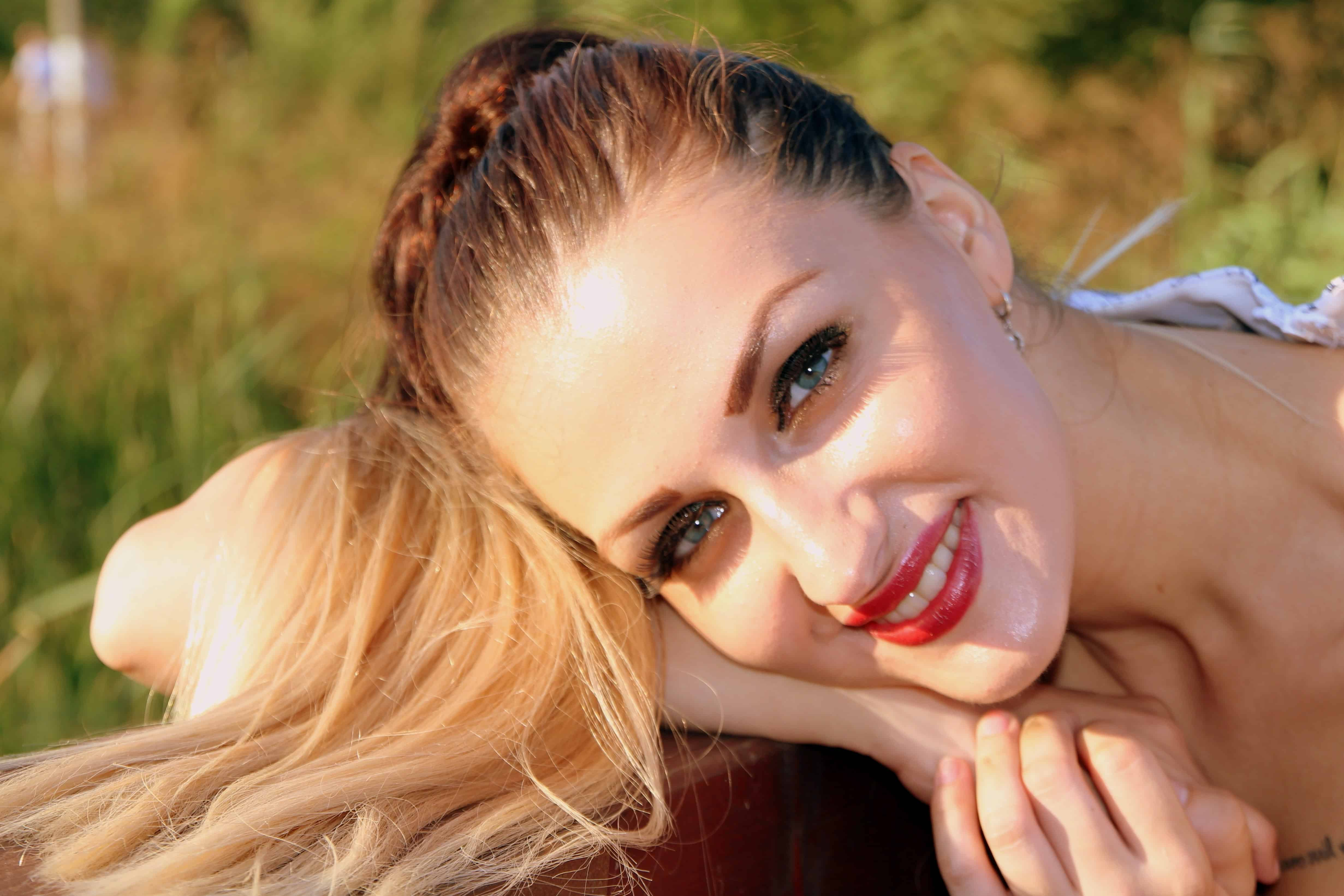 Free Picture Woman Girl Nature Summer Smile Teeth Photo Model Face Portrait