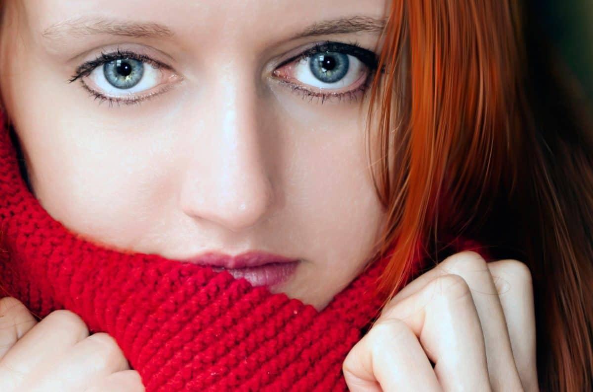 fashion, scarf, pretty, photo model, woman, girl, skin, face, portrait