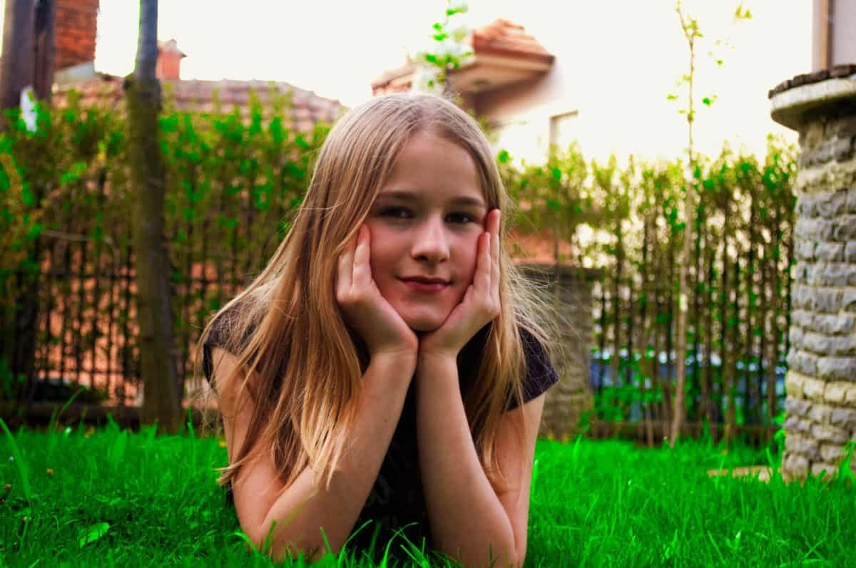 child, blonde hair, nature, grass, summer, beautiful, outdoor, pretty