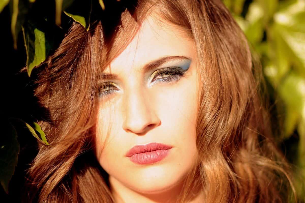 Mode, Auge, Sonnenschein, Frau, Brünette, Gesicht, Porträt, hübsch, Make-up, Lippenstift