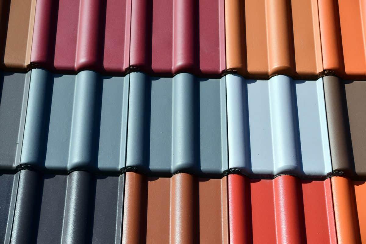 крыша, цвет, краска, красочные, дневной свет, объект
