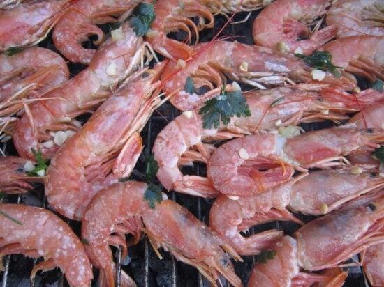 nourriture, crevettes, fruits de mer, crustacés, viande