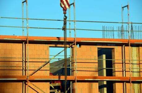 Crane, arkitektur, arbetsplatsen, metall, struktur, city