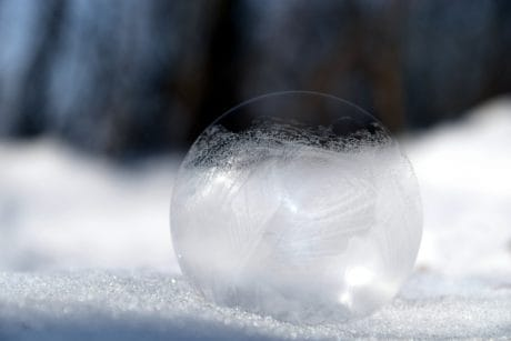 winter, snow, cold, sphere, snowflake, macro, ice