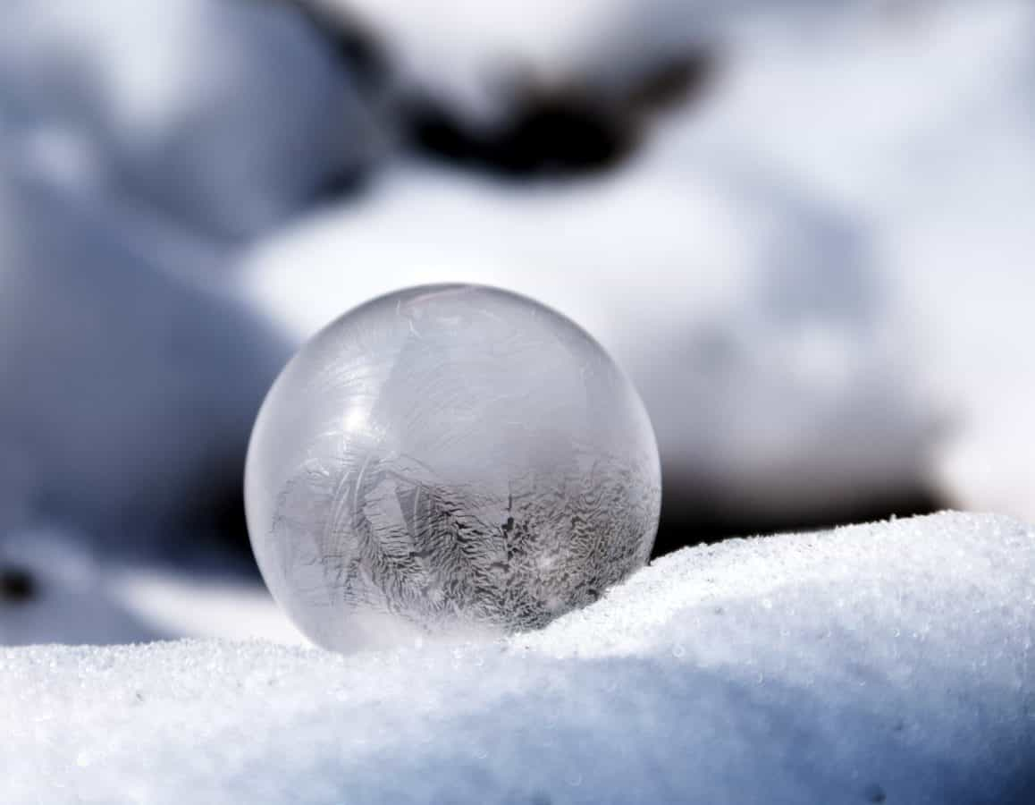 winter, ice, snowflake, macro, snow, cold, sphere