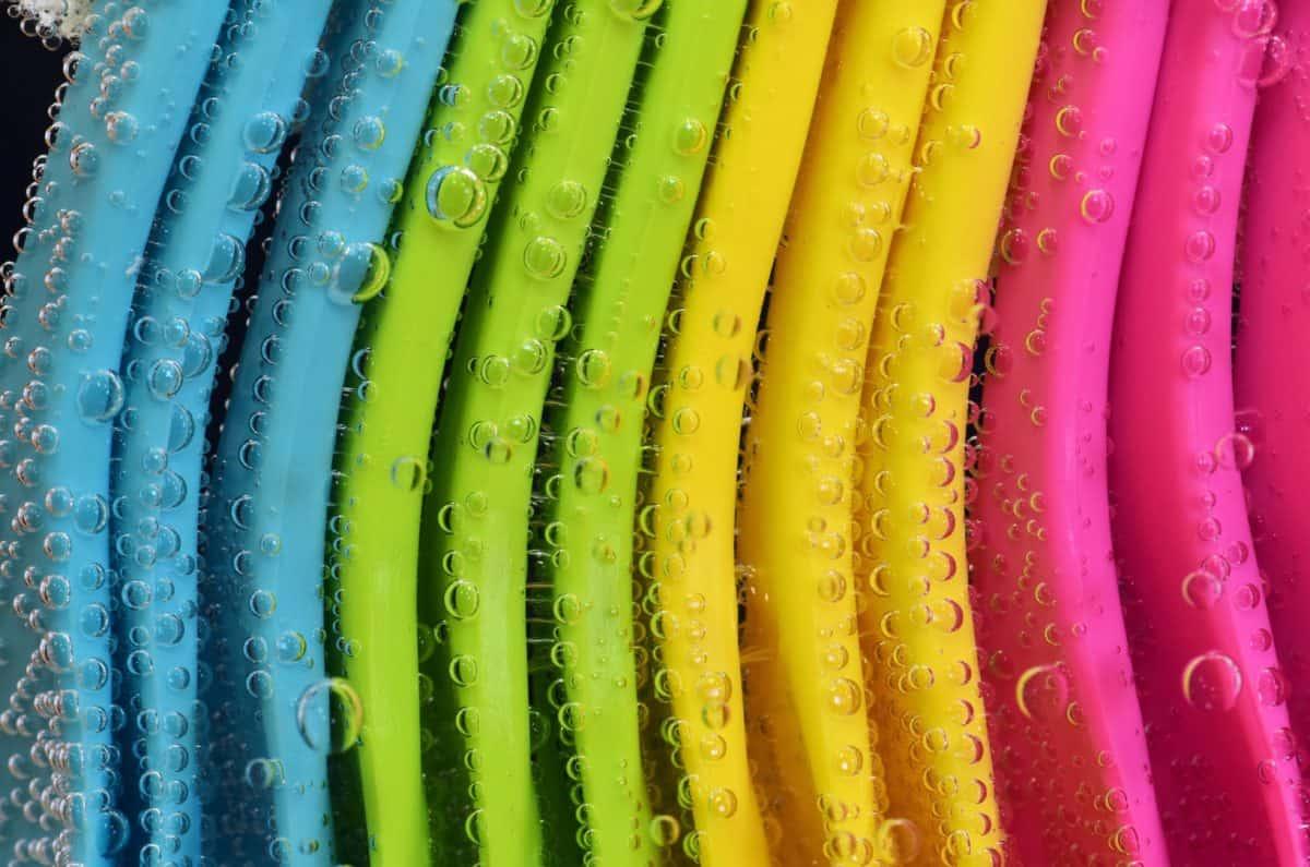 molhado, cor, subsolo, padrão de macro, colorida