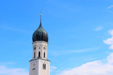 blue sky, orthodox, architecture, religion, church, dome, cross