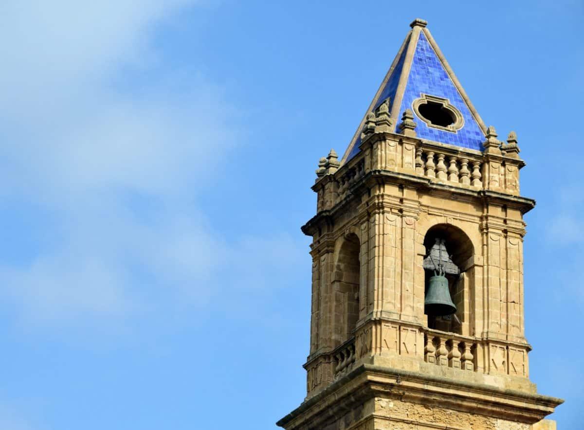 arquitectura, cielo azul, iglesia, torre, religión, viejo, medieval