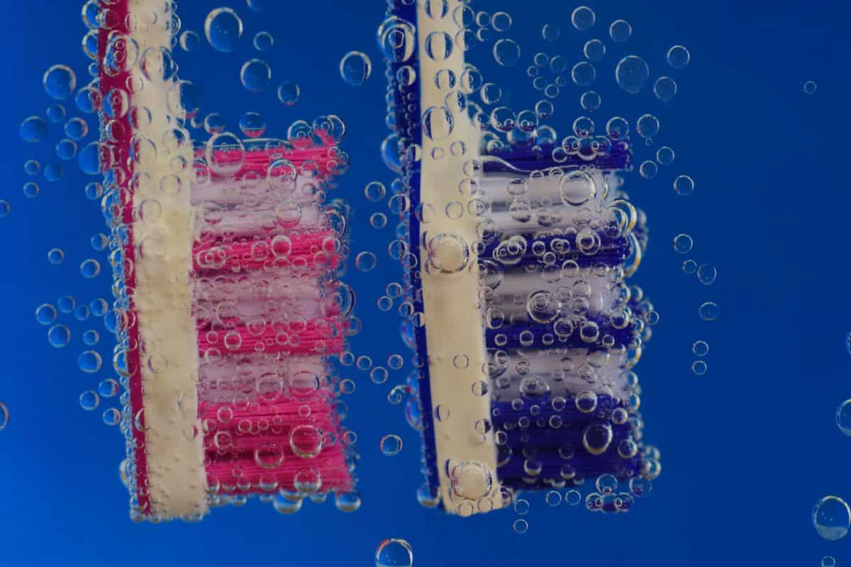 фибри, четка, дизайн, подводни, хигиена, течност, макро, балон, вода
