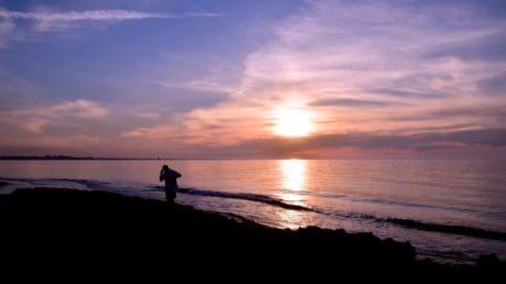 puesta de sol, mar, cielo, mar, agua, sol, playa, litoral, al aire libre