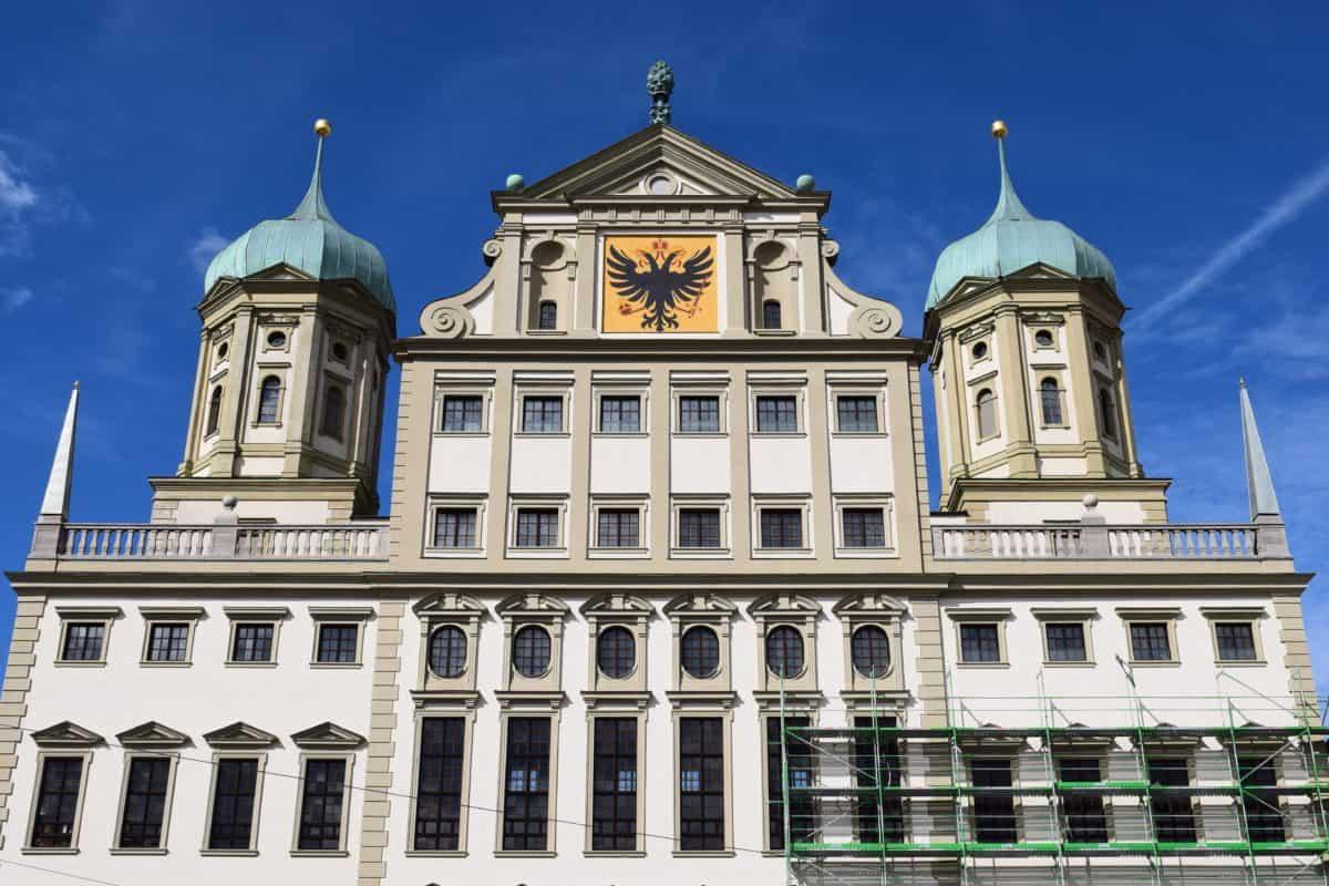 religion, blue sky, city, dome, architecture, facade, landmark