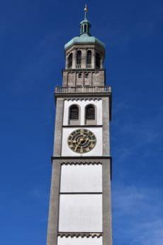 Architektur, Turm, Himmel, blauer Himmel, Uhr, Sehenswürdigkeit, Kirche