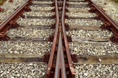 terra, luce del giorno, all'aperto, in acciaio, ferrovia, Ferro