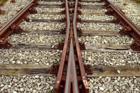 tierra, luz natural, al aire libre, acero, ferrocarril, hierro