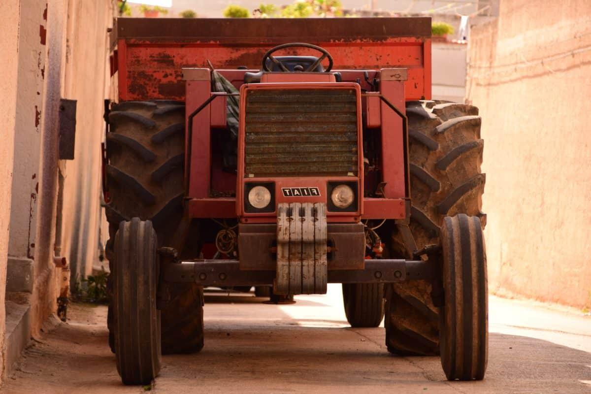 industria, street, trattore, veicolo, macchina, trasporto, all'aperto
