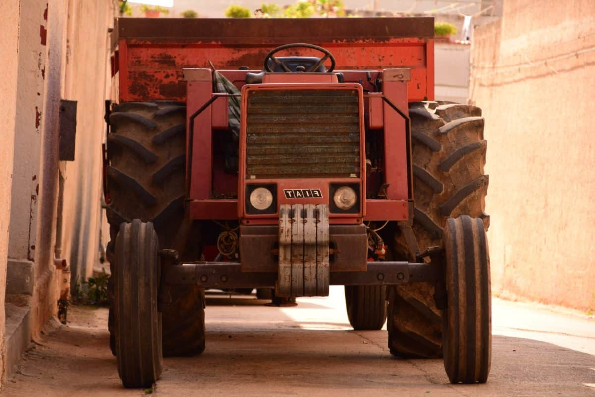 industrie, rue, tracteur, véhicule, machine, transport, plein air