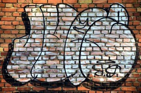Ziegel, Design, Textur, bunt, Beton, Graffiti, Muster, Wand