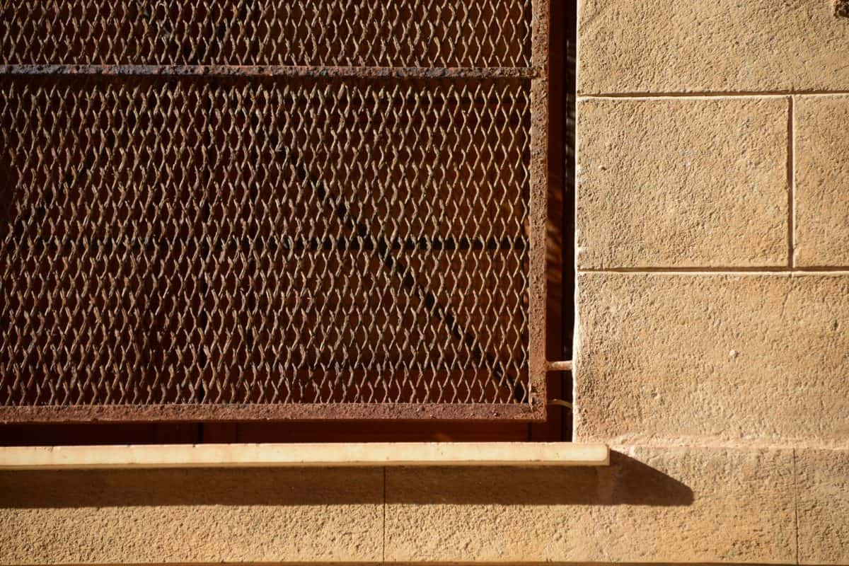 pared, ventana, metal, red, seguridad
