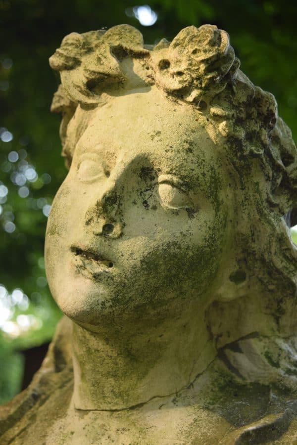 estatua, antiguo, escultura, arte, cementerio, piedra