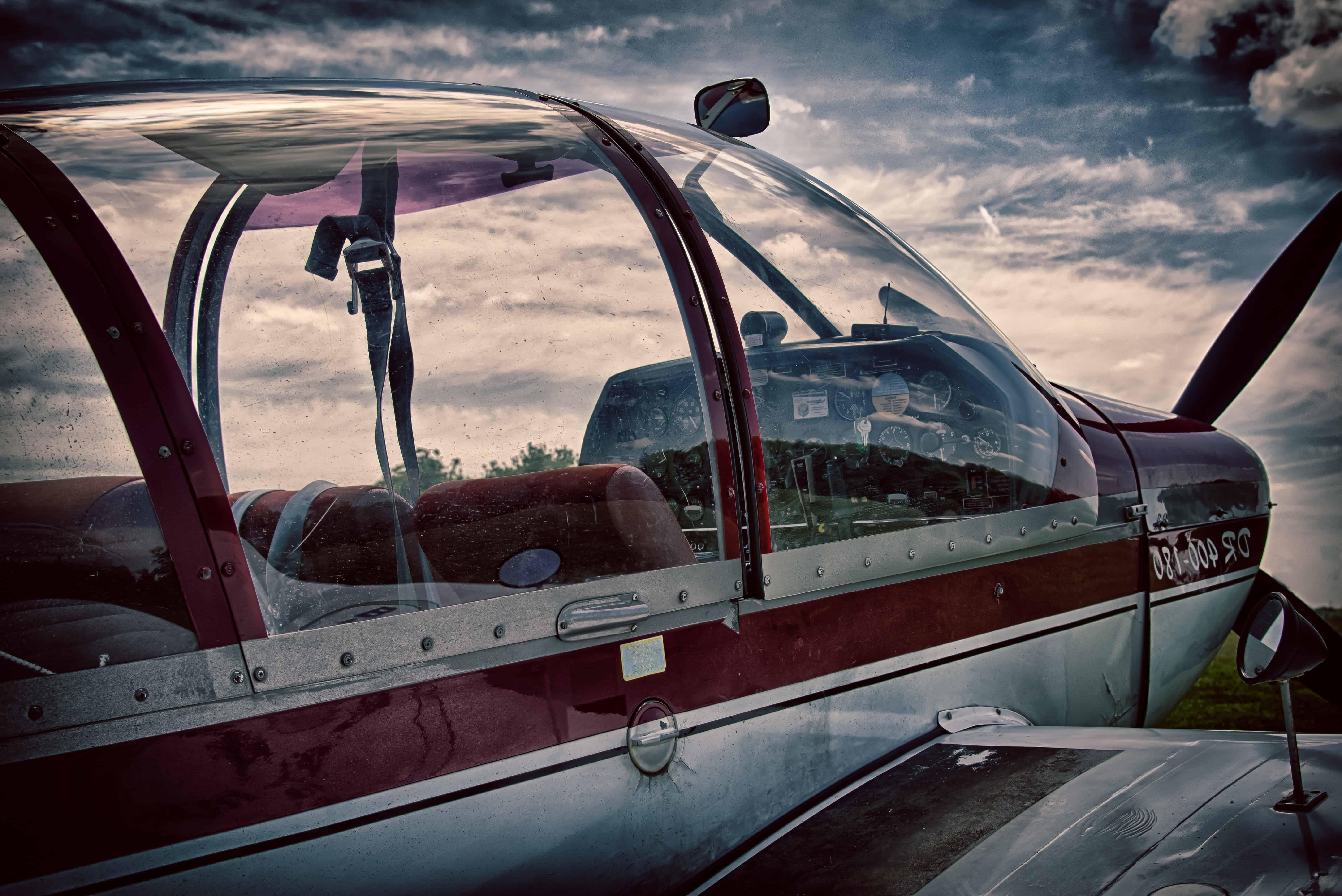 avion, véhicule, aviation, nuage, ciel, coucher de soleil