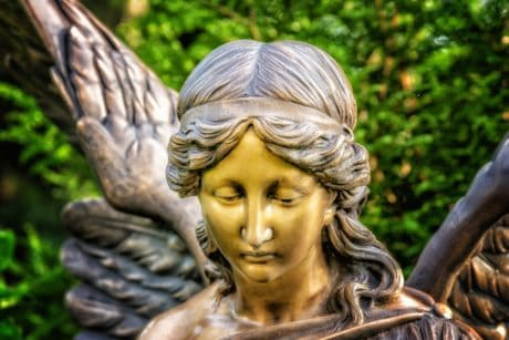 angel, wing, bronze, religion, sculpture, statue, art, portrait