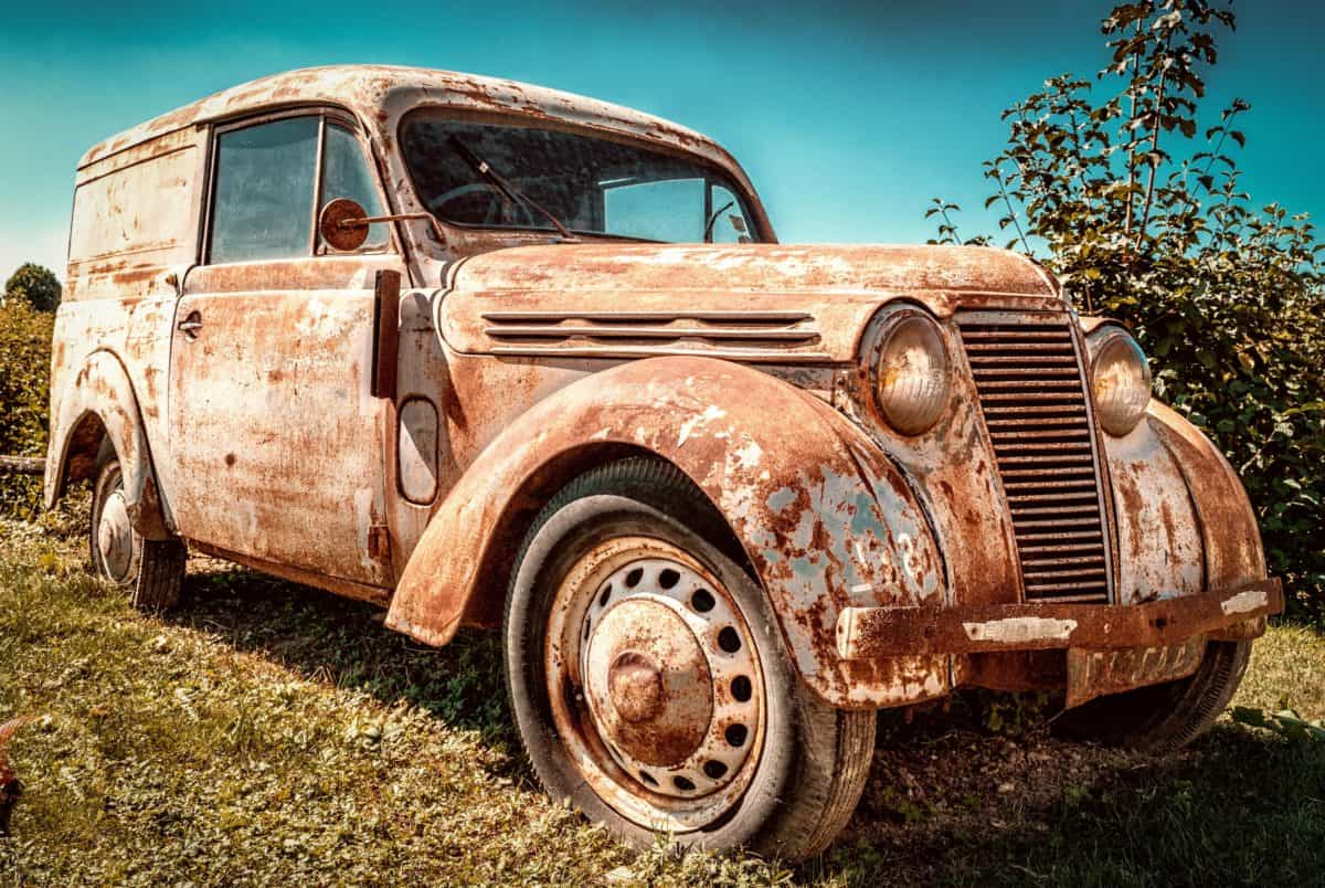 car, vehicle, rust, old, metal, transportation, automobile