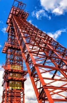 industrije, nebo, gradnja, čelika, dizalica, toranj, najviši, struktura