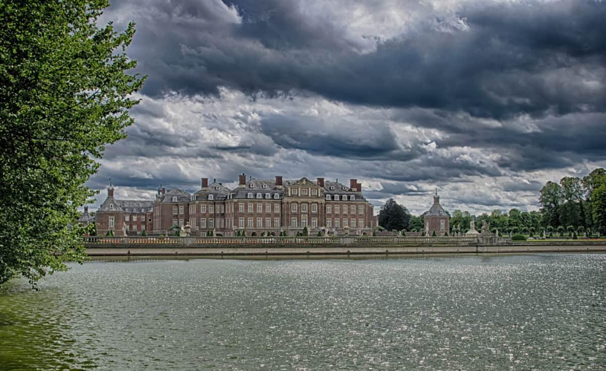water, river, architecture, sky, city, castle, outdoor, landmark