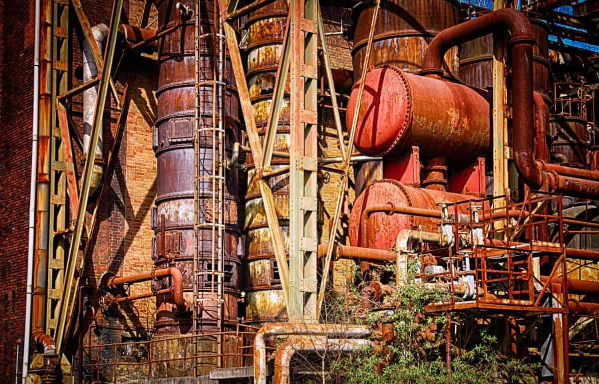 industry, factory, pollution, petroleum, steel, iron, outdoor
