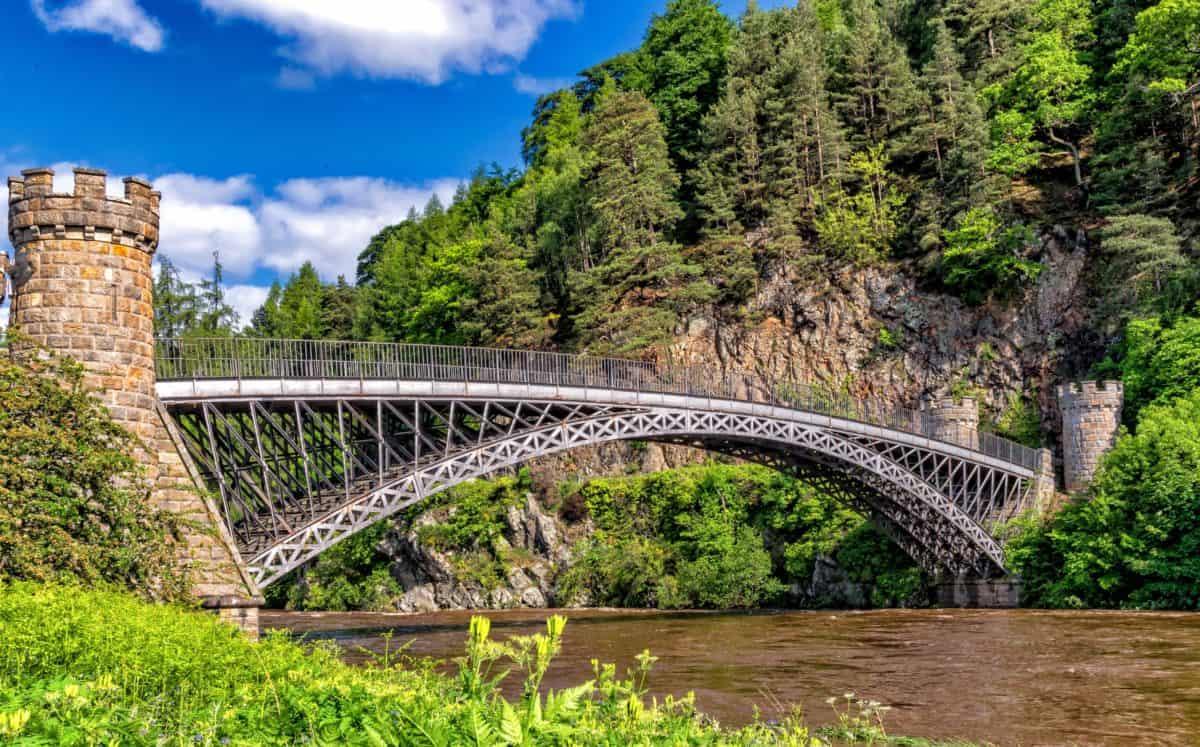 madera, puente, río, paisaje, arquitectura, agua, estructura