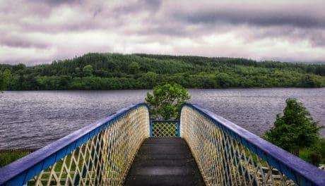 naturaleza, río, paisaje, agua, puente, día, cielo