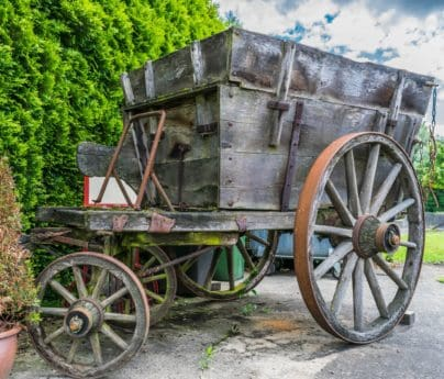 legno, ruota, carrello, vecchio, carrozza, vagone, antica, all'aperto