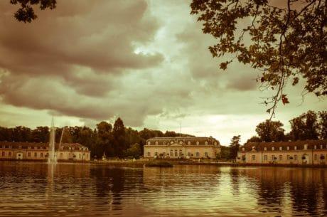 stad, vatten, floden, arkitektur, reflektion, slott, palace