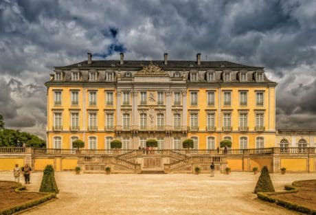 old, sky, architecture, castle, palace, house, residence