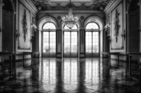 architecture, palace, shadow, monochrome, window, arch, old, floor