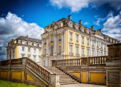 castle, architecture, sky, facade, palace, residence, city, landmark