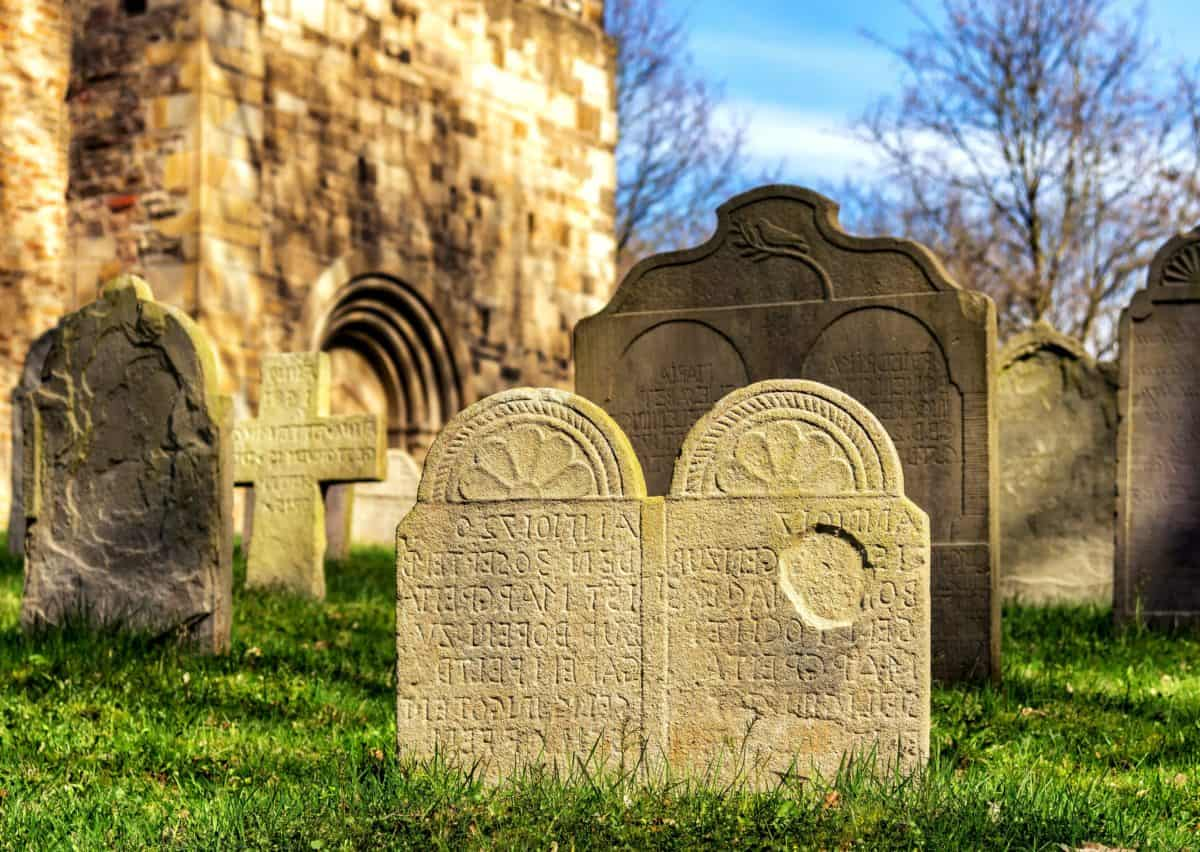 antigua, edad, religión, piedra, piedra sepulcral, tumba, cementerio